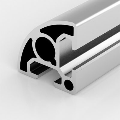 Aluminium-extrusion-Profile-PG30-30×30-R90-mm-2-Slots